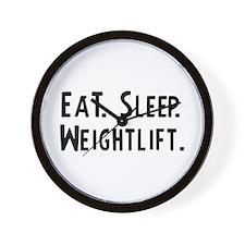 Eat, Sleep, Weightlift Wall Clock