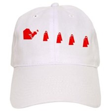 Red and White Flyball BC Baseball Cap
