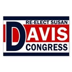 Re-Elect Susan Davis Bumper Sticker