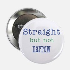 """Straight but Not Narrow 2.25"""" Button (100 pack)"""