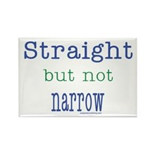 Straight but Not Narrow Rectangle Magnet (10 pack)
