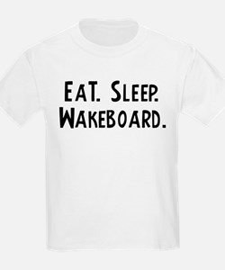 Eat, Sleep, Wakeboard Kids T-Shirt