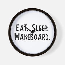 Eat, Sleep, Wakeboard Wall Clock