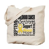 Childhood cancer Canvas Bags