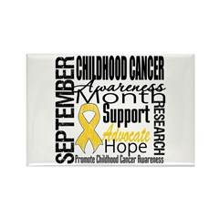 Childhood Cancer Month v4 Rectangle Magnet (10 pac