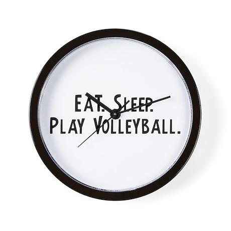 eat sleep play volleyball wall clock by mycalling