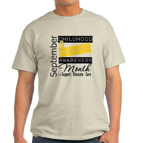 Childhood Cancer Month v5 Light T-Shirt