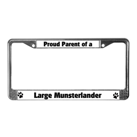 Large Munsterlander License Plate Frame