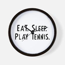 Eat, Sleep, Play Tennis Wall Clock