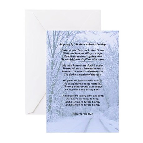 Stopping By The Woods Greeting Cards (Pk of 10)