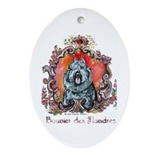 Bouvier Portrait Ornament (Oval)