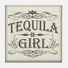 Vintage Tequila Girl Tile Coaster