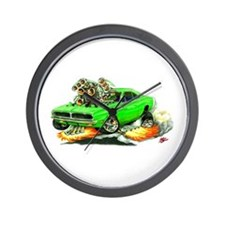 Dodge Charger Lime Car Wall Clock