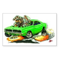 Dodge Charger Lime Car Rectangle Decal