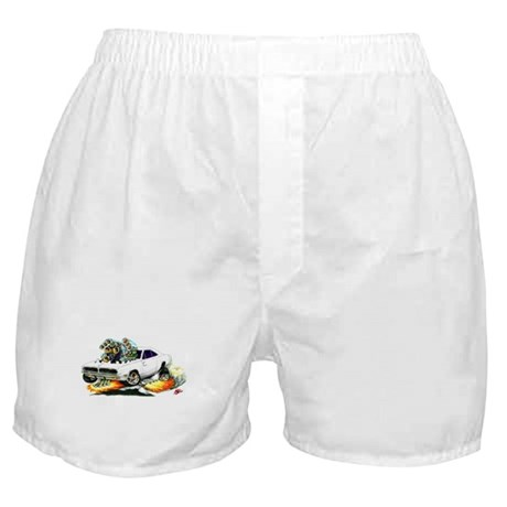 Dodge Charger White Car Boxer Shorts