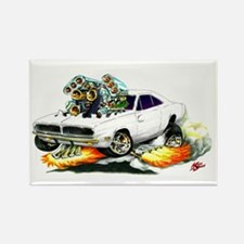 Dodge Charger White Car Rectangle Magnet