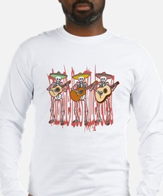 Mariachi Skeleton Trio Long Sleeve T-Shirt