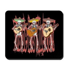 Mariachi Skeleton Trio Mousepad