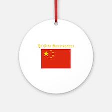 ye olde sweatshop Ornament (Round)