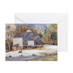 Warwick NY Winter Farm Greeting Cards (Pack of 6)