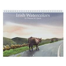 Wall Calendar Irish Watercolors
