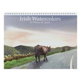 Cow ireland connemarra irish watercolor Calendars