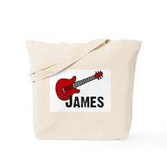 Guitar - James Tote Bag