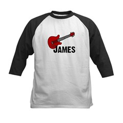 Guitar - James Kids Baseball Jersey