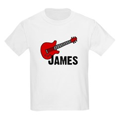 Guitar - James Kids T-Shirt