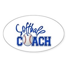 Softball Coach Oval Decal