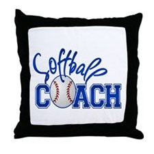 Softball Coach Throw Pillow
