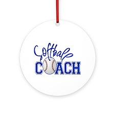 Softball Coach Ornament (Round)