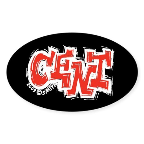 Cent Oval Sticker