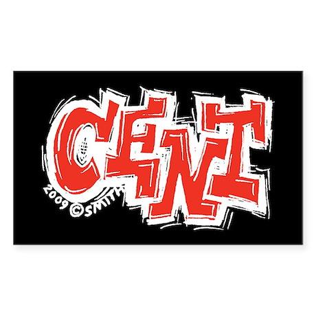 Cent Rectangle Sticker