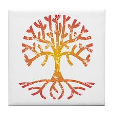 Distressed Tree IV Tile Coaster