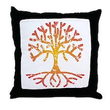 Distressed Tree IV Throw Pillow