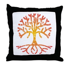 Distressed Tree IV Throw Pillow
