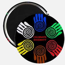 Celebrate Diversity Circle Magnets