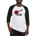 Guitar - Evan Baseball Jersey