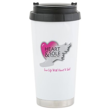 Heart and Sole Stainless Steel Travel Mug