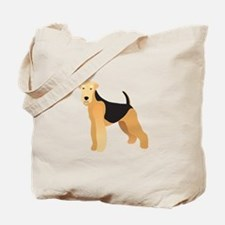 Funny Airedale Tote Bag