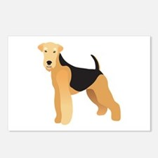 Cute Airedale terrier Postcards (Package of 8)