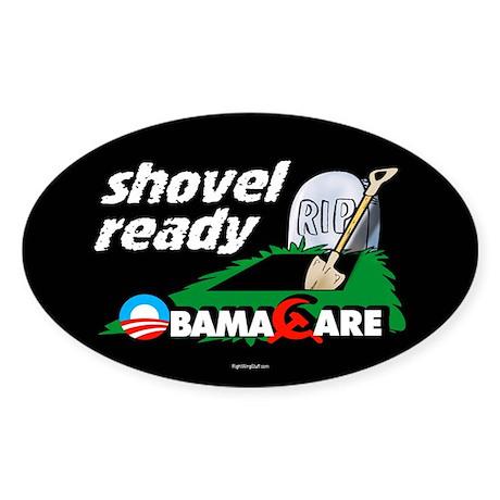 Shovel Ready Oval Sticker