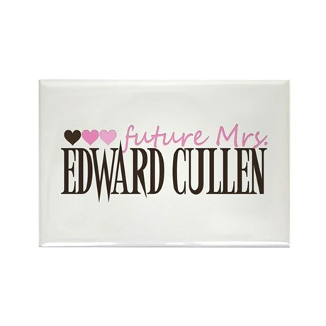Future Mrs EC - pink Rectangle Magnet