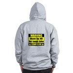 No coffee warning sign Zip Hoodie