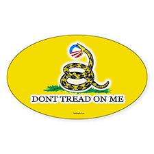 Gadsden Strikes Obama Logo Oval Decal