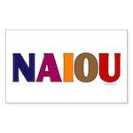 NAIOU Rectangle Sticker 10 pk)