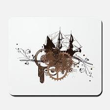 steampunk pirate ship Mousepad