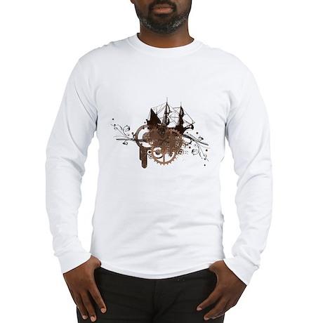 steampunk pirate ship Long Sleeve T-Shirt