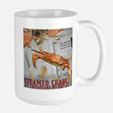 Large Blue Crab Mug